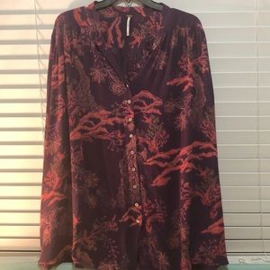 Free People button down tunic